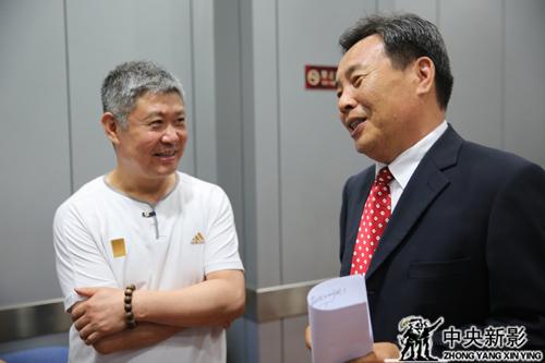 刘振江书记与《大国钢铁》总导演王瑛
