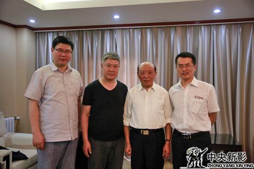 蒲海清部长与主创团队、冶金工业规划研究院张明合影留念