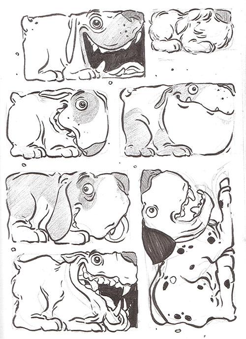 手绘狗狗背景图
