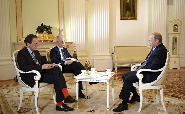 Интервью президента РФ В.Путина итальянской газете Il Corriere della Sera. Алексей Никольский/ТАСС