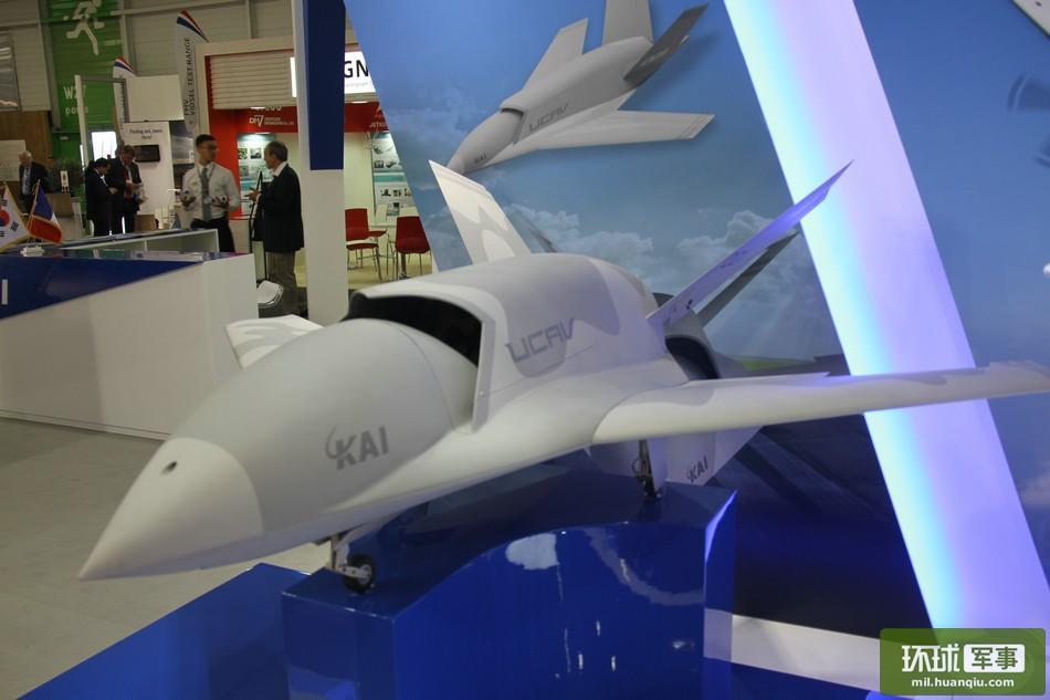 韩国军工企业展示的新型无人机