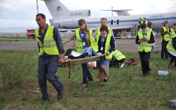Специалисты оперативных служб Читы отработали алгоритм действий при авиакатастрофе