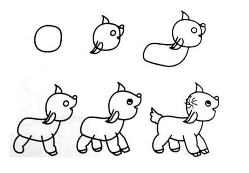 手绘宝宝图片小马