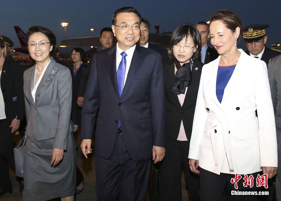 Le Premier ministre chinois arrive en France