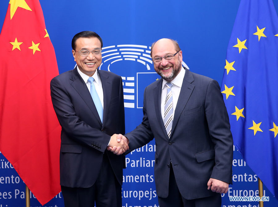 Li Keqiang rencontre le Président du Parlement européen