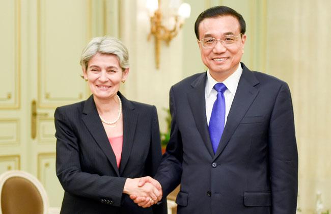 Le Premier ministre chinois rencontre la directrice générale de l