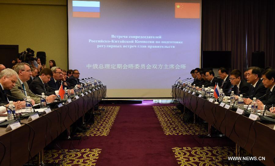 В Иркутске состоялась встреча Ван Яна и Д. Рогозина -- председателей Китайско-российской комиссии по подготовке регулярных встреч глав правительств