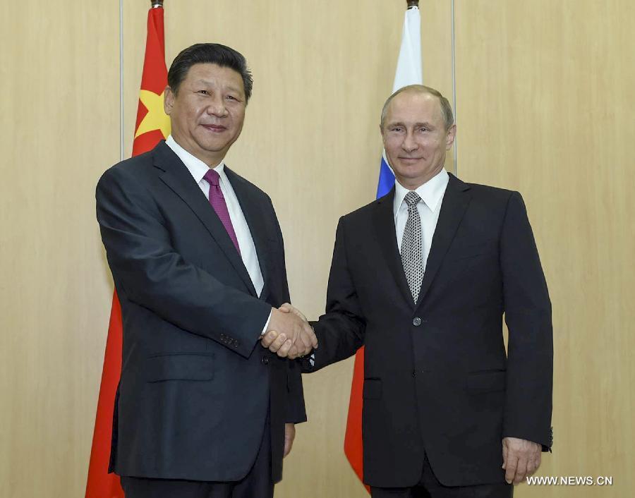 Си Цзиньпин и Владимир Путин встретились в Уфе в преддверии саммита БРИКС