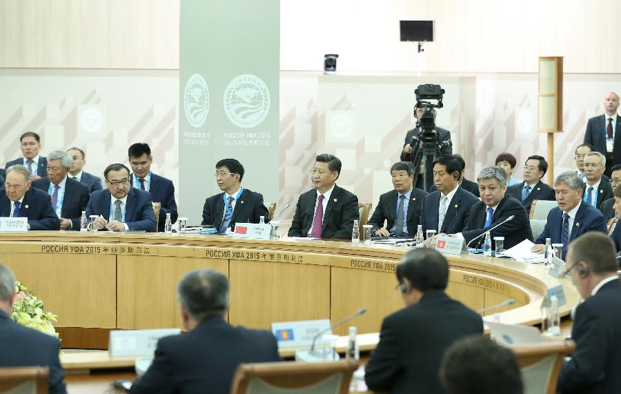 Chinese President Xi Jinping attends the 15th Shanghai Cooperation Organization (SCO) summit in Ufa, Russia, July 10, 2015. (Xinhua/Pang Xinglei)