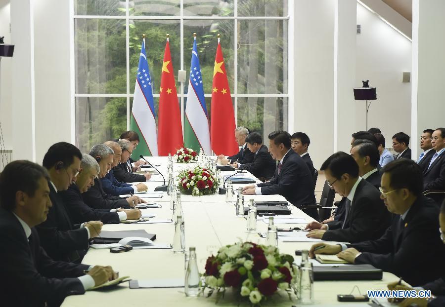 Состоялась встреча Си Цзиньпина с президентом Узбекистана Исламом Каримовым