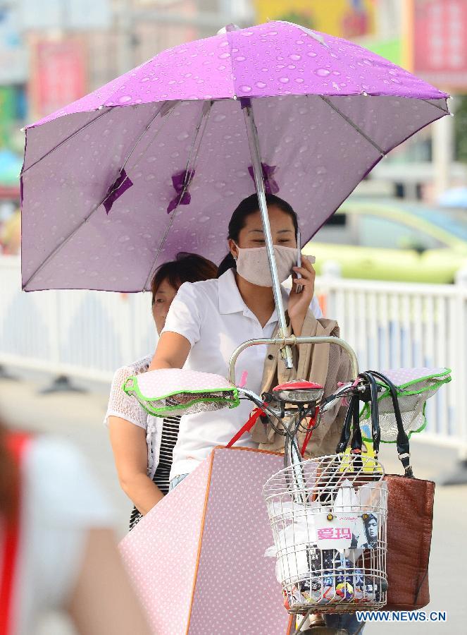 Температура воздуха в китайской столице превысила 40°C