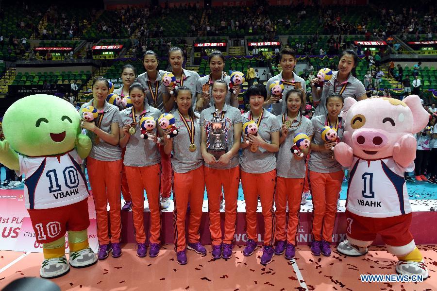 Китаянки на сянганском этапе мирового Гран-при по волейболу-2015 стали чемпионом