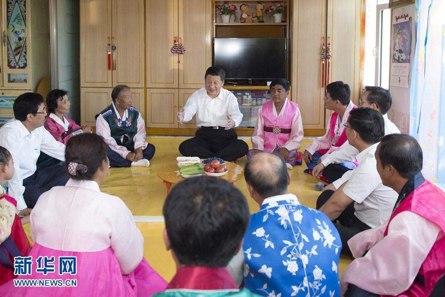 الرئيس الصيني يقوم بجولة تفقدية في مقاطعة جيلين الصينية
