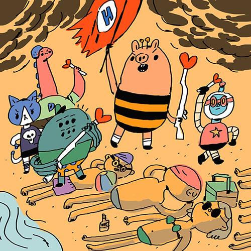 那么今天,我们就来一起欣赏一下这位韩国插画师笔下的小猪猪.