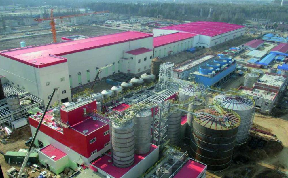 В Гомельской области завершается строительство завода по производству сульфатной целлюлозы