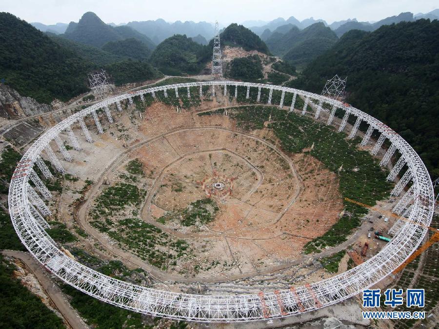 В Китае строится самый большой в мире радиотелескоп с пятисотметровой апертурой