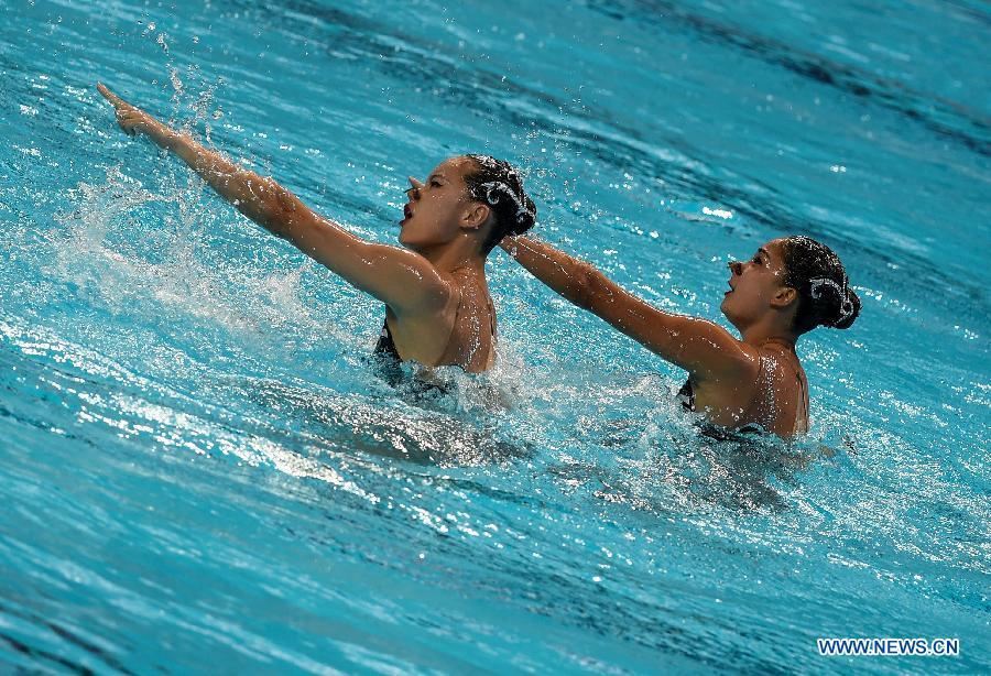 Китаянки уступили в технике российскому дуэту в синхронном плавании на ЧМ по водным видам спорта-2015