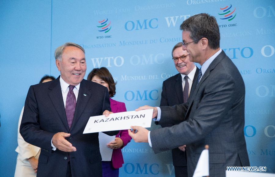 Казахстан подписал договор о вступлении во Всемирную торговую организацию