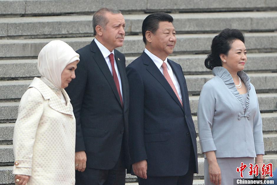 Председатель КНР провел встречу с президентом Турции