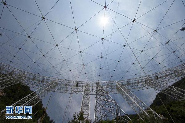 В Китае началась сборка крупнейшего в мире радиотелескопа площадью в 30 футбольных полей