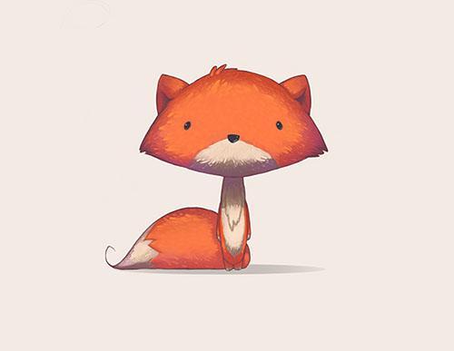 再看看火狐的logo,很多可爱童话故事都少不了狐狸这个角色,还有各位
