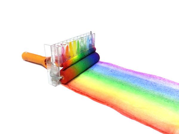 手把手教你制作彩虹滚筒刷!_时尚_央视网(cctv