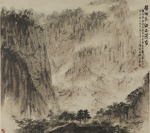 《待细把江山图画》 傅抱石1961年