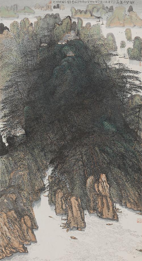 《湖生千岛奇》 朱道平 国画