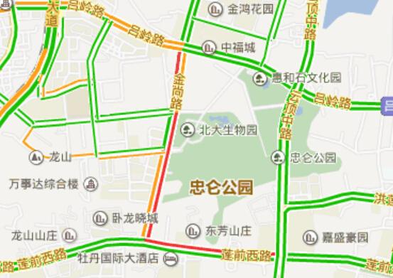 前西路和金尚路红绿灯处拥堵-成功大道文曾路段拥堵