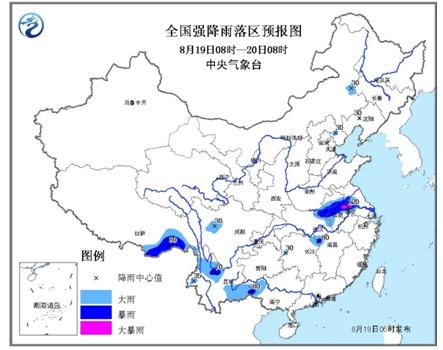气象台发布暴雨蓝色预警 湖北河南等地或降暴雨图片