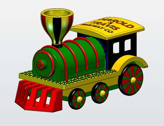 立体火车的画法步骤