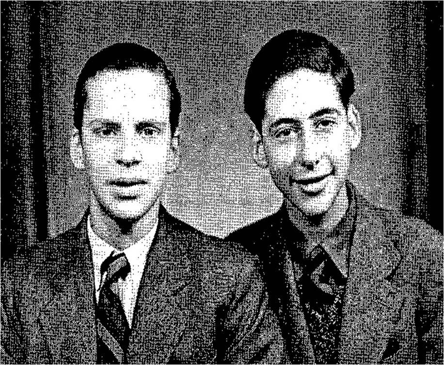 Памятное фото Джерри и лучшего друга перед отъездом из Шанхая, 1947 год