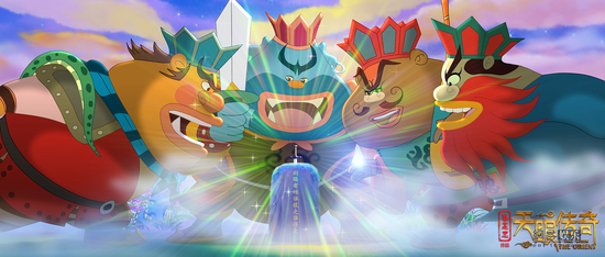 国庆节flash动画素材