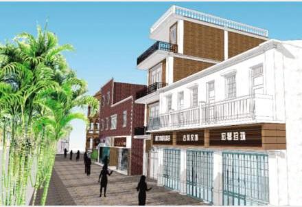 鼓浪屿核心商业街立面整治初步方案部分设计效果图.