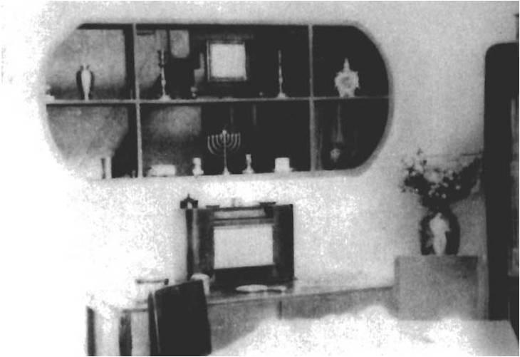 Внутреннее убранство дома еврейских беженцев в Хункоу