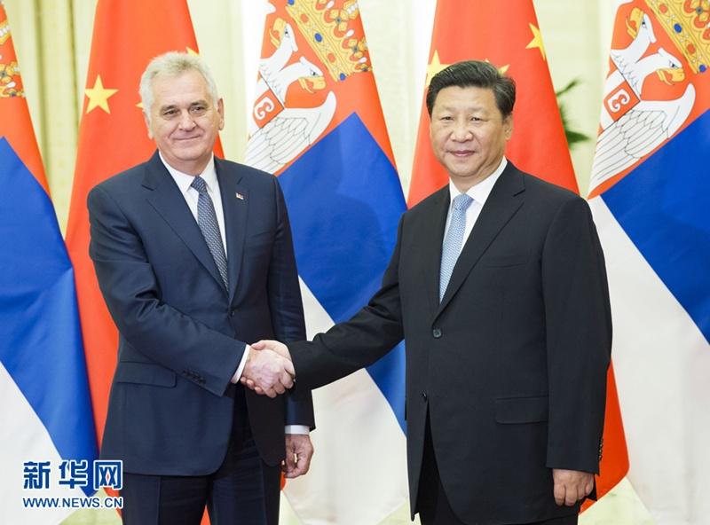 التقى الرئيس الصيني شي جين بينغ مع الرئيس الصربي توميسلاف نيكوليتش