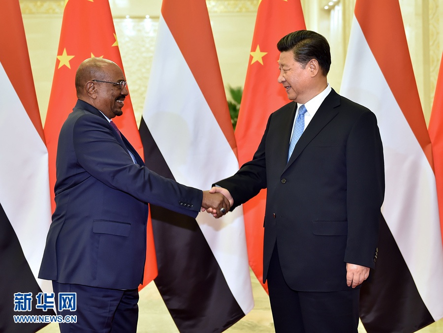 الرئيس الصيني يلتقي الرئيس السوداني
