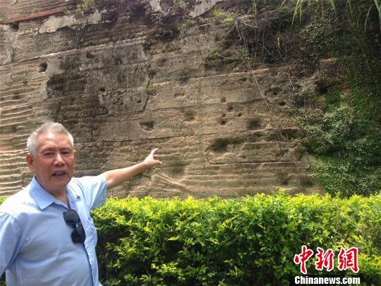 南炮台城墙上的弹孔,是当年日军轰炸南炮台的罪证之一。