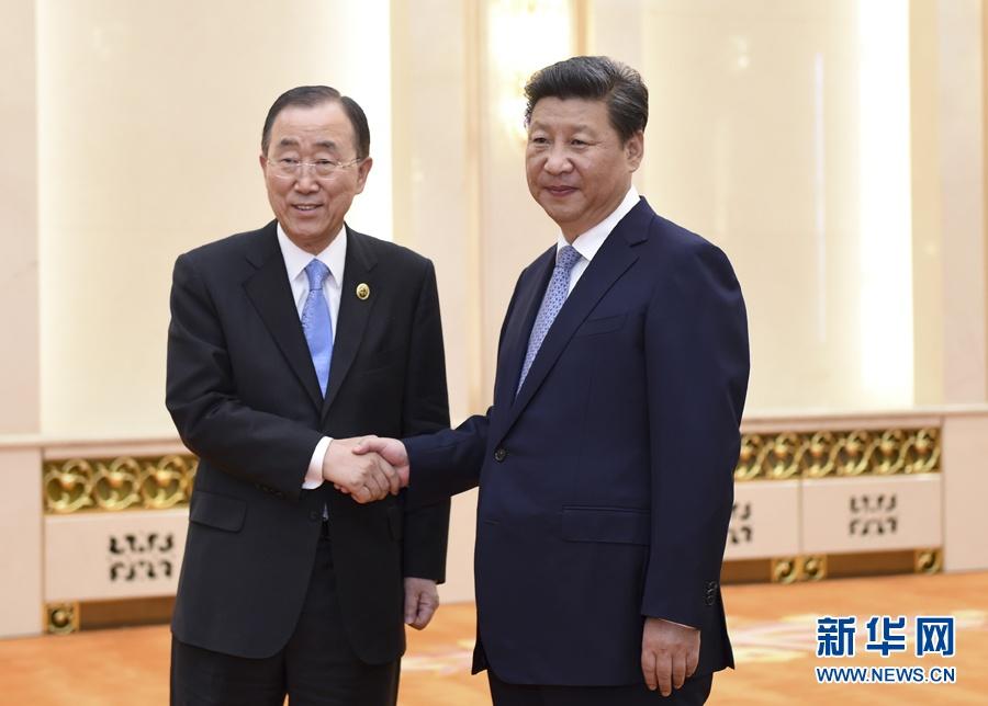 الرئيس الصيني يلتقي الأمين العام للأمم المتحدة
