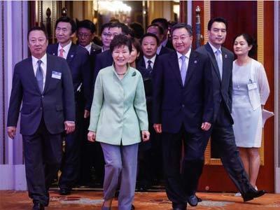 韩国总统朴槿惠出席中韩商务合作
