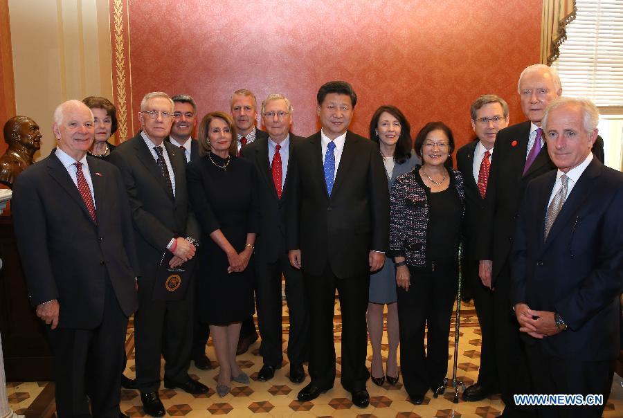 Le président chinois rencontre les leaders du Congrès américain