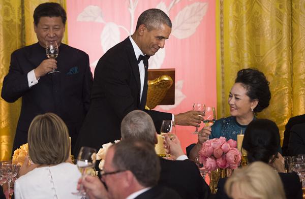 Barack Obama accueille Xi Jinping et sa femme pour un dîner d'État