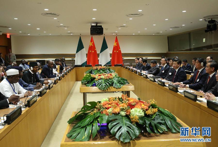Chinese President Xi Jinping has met with his Nigerian counterpart Muhammadu Buhari in New York.