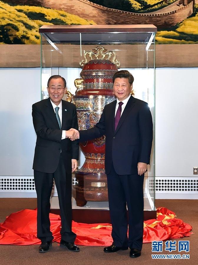 الصين ترسل هدية إلى الأمم المتحدة