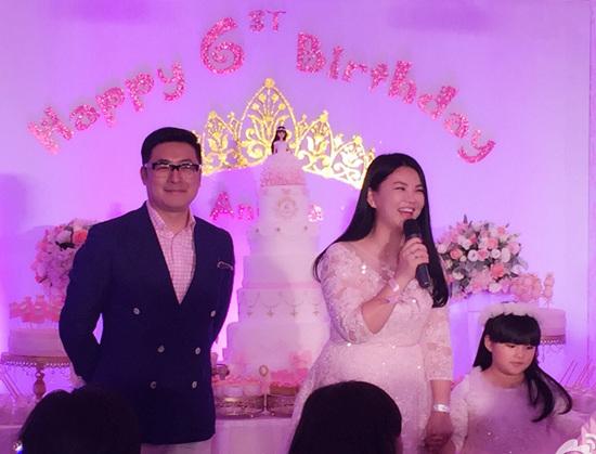 李湘/李湘夫妇为女儿Angela办生日宴场面华丽