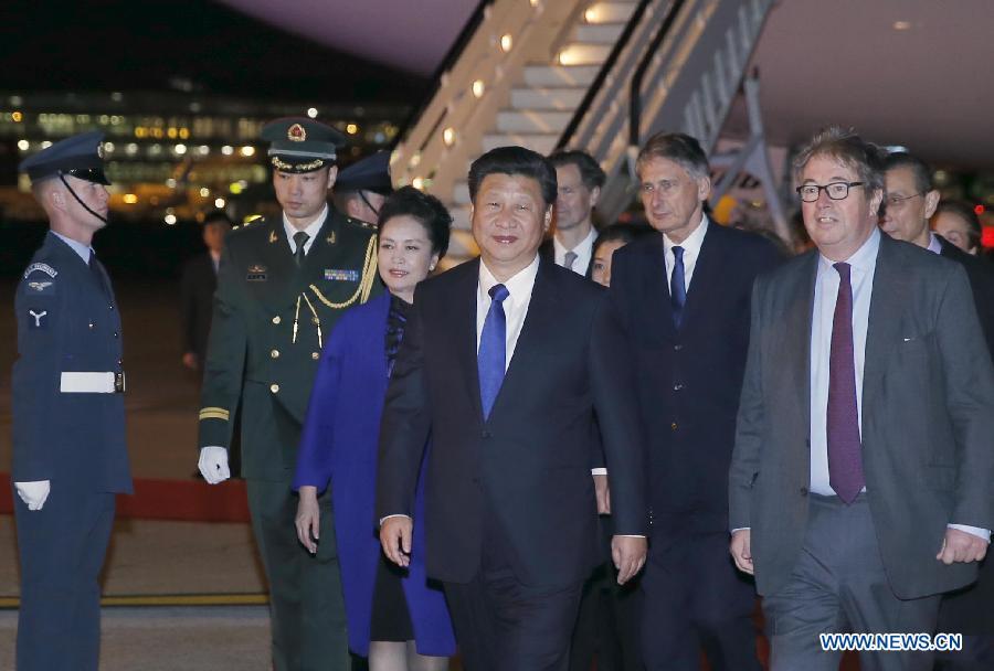 Xi Jinping, est arrivé à Londres