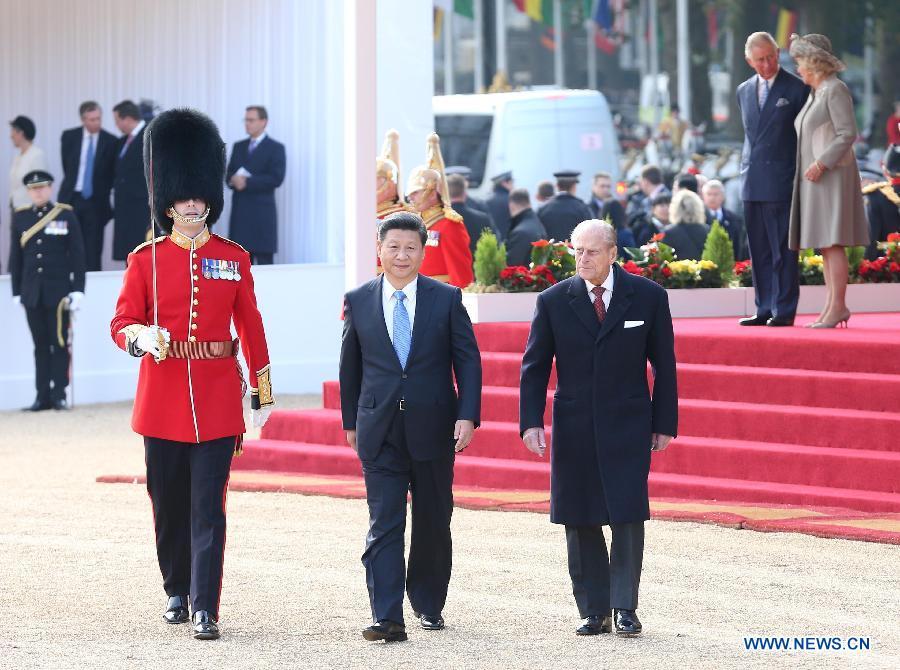 Xi Jinping conclut sa première journée de visite au Royaume-Uni
