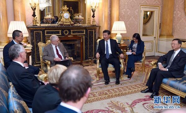 الرئيس الصيني يلتقي زعيم حزب العمال جيريمي كوربين