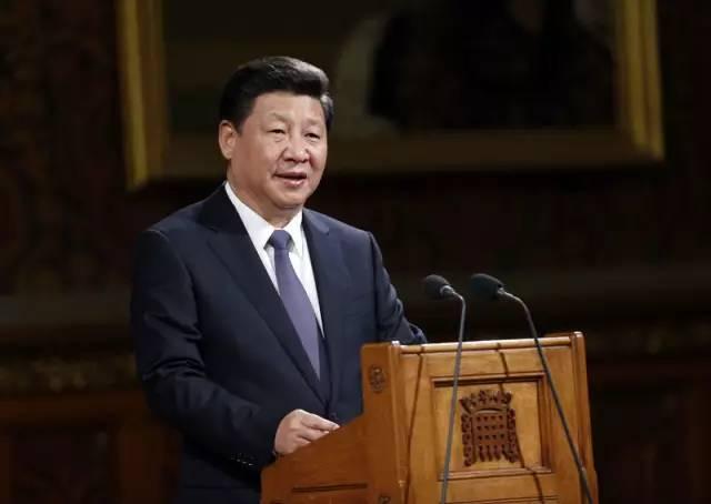 图为:2015年10月20日,国家主席习近平在英国议会发表讲话。