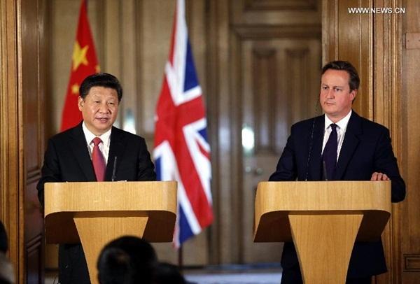 الرئيس الصيني يجري محادثات مع رئيس الوزراء البريطاني